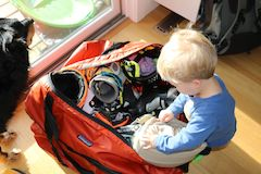 Packing for skiing as a family
