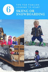 Tips for families with young kids looking to enjoy wintersports