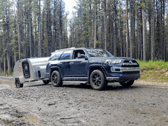 Toyota 4 Runner with Tear-drop Overland Trailer