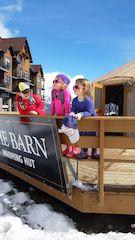 Kids love to ski, Kicking Horse Resort, Golden, BC, Canada