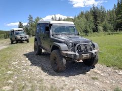 Modified and Upgraded Off-Road Jeep