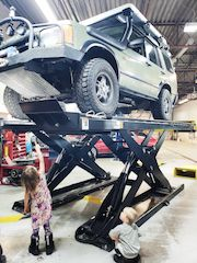 Land Rover Discovery Custom Skid Plates -  work done by ProActive Automotive Shop in Calgary, Alberta