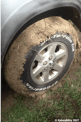 BF Goodrich Tyres having fun in the mud - Tips on driving in mud and rutted tracks