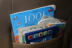 Top Road Trip Ideas to Entertain Kids - bring a large assortment of books