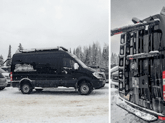 Sprinter Van Setup for Skiing