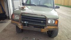 Welding of Custom Land Rover Bumper