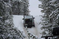 Land Rover winter wonderland