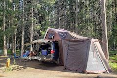 Toyota Sequoia Second Generation Camping Set up for Family of 4