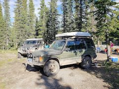 Jeep and Land Rover camping