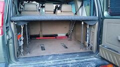 DIY Land Rover Storage and Bed System