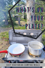 Easy Vegetarian Camping Meals including Meal Plan