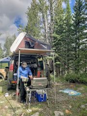 ARB Awning, iKamper and Land Rover Discovery set up