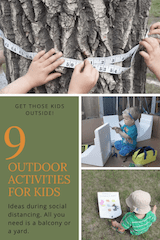 Outdoor activities for kids, all you need is a small place and household items