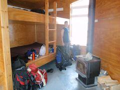 Backcountry huts sleeping area