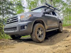Toyota Sequoia Off-Road Driving