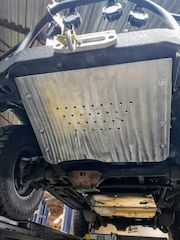 Land Rover Discovery custom front steering skid plate