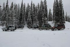 Winter Land Rovers and Off-Road Vehicles