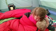 Mr Heater Buddy in Tent - only used for about 5 minutes at a time under supervision