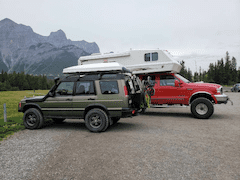 Land Rover Discovery 2 vs Ford F 350 Camper