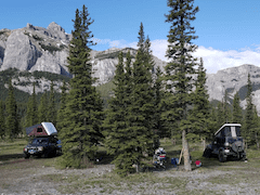 Land Rover and Jeep overland camping