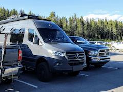 Grey Sprinter Van