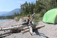 Camping near Jasper in Alberta, Canada