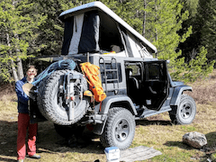 Ursa Minor Jeep Rubicon Pop-up Tent Conversion