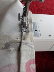 begin sewing hems