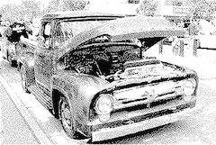 car dithered atkinson 2-color