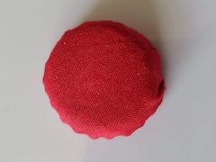 fabric covered bottle cap