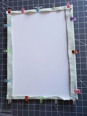 cross stitch frame on budget