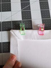 mitred corner cross-stitching