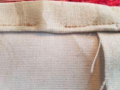gap in stitches for elastic