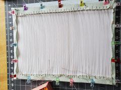 lacing needlework frame how to