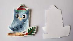 Cardboard backing finish ornament