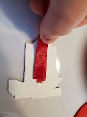 backing perforated paper ornament