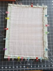 laced needlework backing for framing