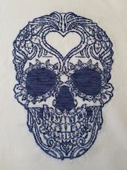 finished cross stitch cleaned
