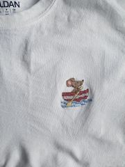 stitched on t-shirt