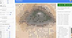 cross stitch chart zoomed