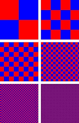 dithering red and blue to get purple