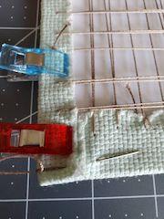 corner stitching lacing framing