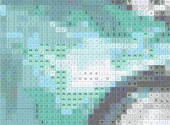 car cross-stitch pattern detail without dithering