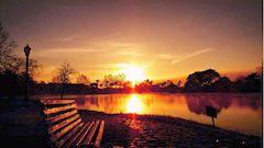 sunset dithered using floyd-steinberg