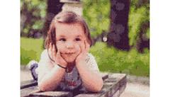 Example Mockup - Girl on Table