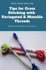 cross stitching variegated metallic