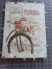 cross stitch framing prepare fabric
