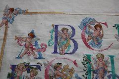 Janlynn cherub alphabet detail