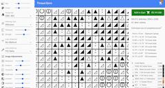 cross stitch chart symbols