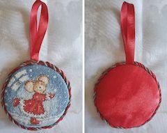 Stitched Cross Stitch Ornament